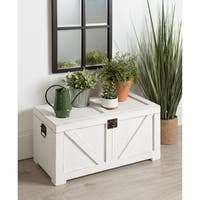 Kate and Laurel Cates Wood Trunk - White