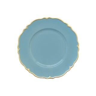 elle blue/gold scallop set/4
