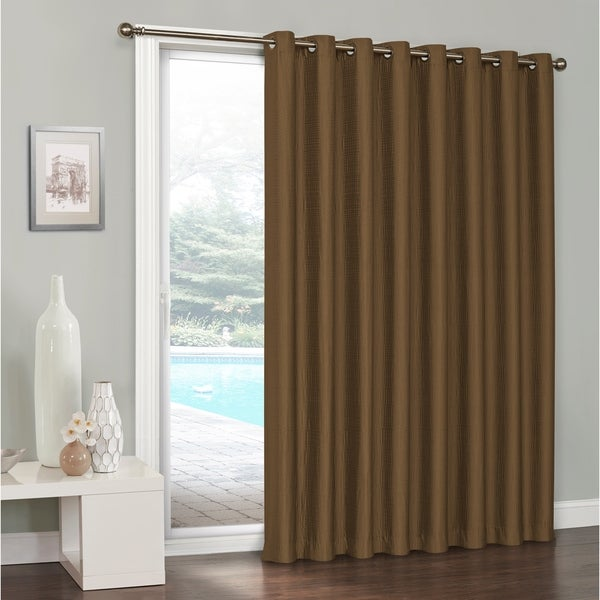 Shop Eclipse Clara Thermaweave Blackout Patio Door Curtain 100x84