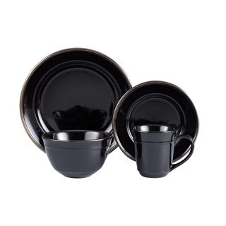 lucienne black 16 pc dinner set