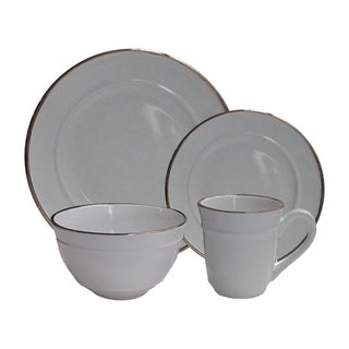 lucienne gray 16 pc dinner set