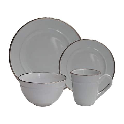 lucienne gray 16 pc dinner set
