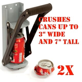 16oz CAN Crusher Aluminum Can Crusher Bottle Opener Wall Mount 2 in 1 Easy Crush