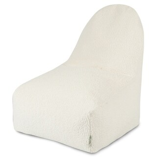 Majestic Home Goods Solid Cream Sherpa Kick-It Chair