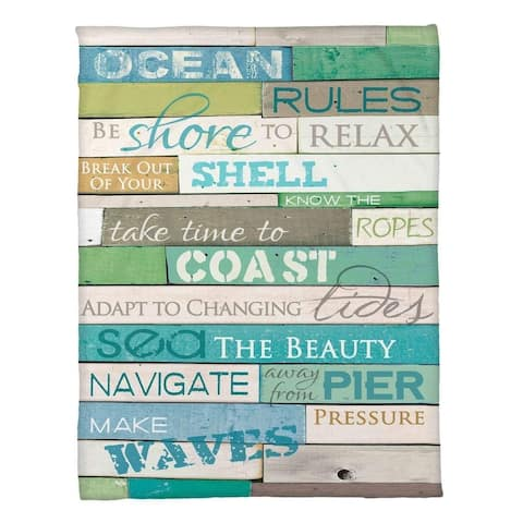 Laural Home Rules of the Ocean Fleece Throw