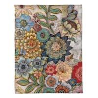 Laural Home Bohemian Bouquet Fleece Throw