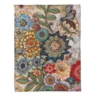 Laural Home Bohemian Bouquet Fleece Throw