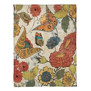 Laural Home Warm Florals Fleece Throw