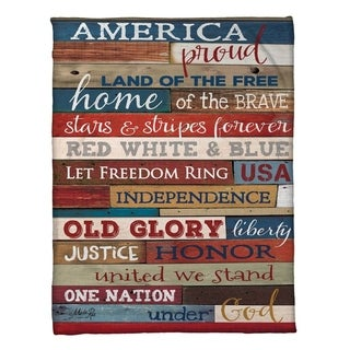 Laural Home Americana Fleece Throw