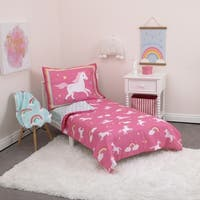 Carter's Unicorns & Rainbows 4-Piece Toddler Bed Set