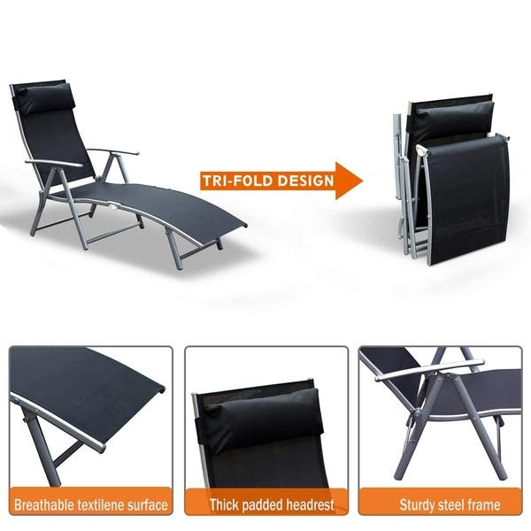 Strange Shop Outsunny Steel Sling Fabric Outdoor Folding Chaise Gamerscity Chair Design For Home Gamerscityorg