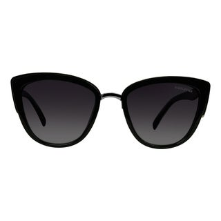 Suzy Levian Women's Black Cat-Eye Polarized Sunglasses