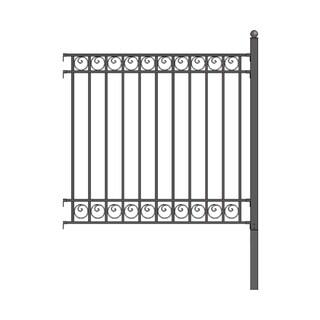 ALEKO Dublin Style DIY Iron Wrought Steel Fence 5.5 X 5 Feet