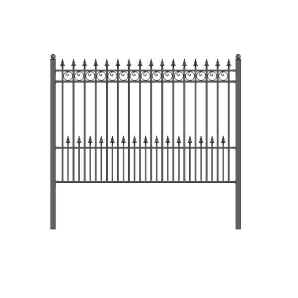 ALEKO DIY Garden Yard Privacy Steel Fence Panel 5.5'x5' Prague Style - 5 ft x 5.5 ft. Opens flyout.