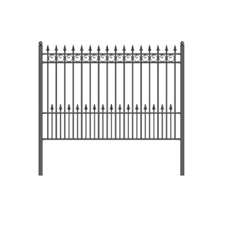 ALEKO Prague Style DIY Iron Wrought Steel Fence 5.5' X 5'
