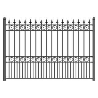 ALEKO London Style DIY Iron Wrought Steel Fence 5.5 X 5 Feet