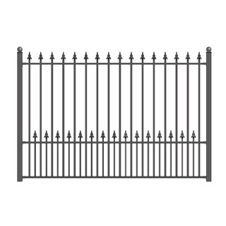 ALEKO Munich Style DIY Iron Wrought Steel Fence 5.5' X 5'
