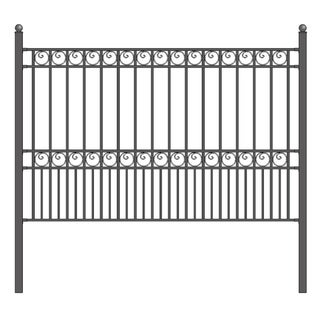 ALEKO DIY Garden Yard Privacy Steel Fence Panel 5.5'x5' Paris Style
