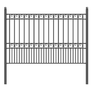 ALEKO Paris Style DIY Iron Wrought Steel Fence 5.5' X 5'