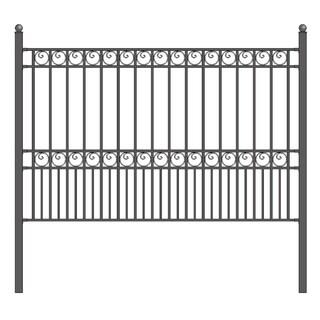 ALEKO Paris Style DIY Iron Wrought Steel Fence 5.5' X 5'