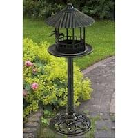 Outdoor Cast Aluminum & Steel Bird Feeder Accent