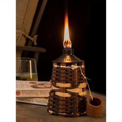 Sunjoy Rattan Tabletop Oil Torch