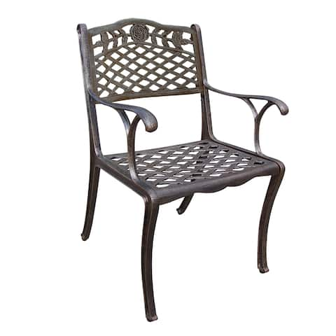 Tea Rose Cast Aluminum Outdoor Dining Chair