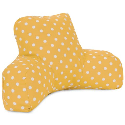 Majestic Home Goods Ikat Dot Reading Bed Pillow 33 X 6 X 18