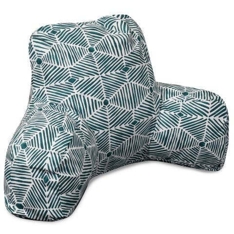Majestic Home Goods Charlie Cotton Reading Bed Pillow 33 X 6 X 18
