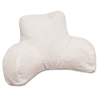 Majestic Home Goods Solid Cream Sherpa Reading Pillow