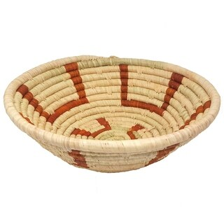 Handmade Banana Fiber Brown Mary Basket (Uganda)