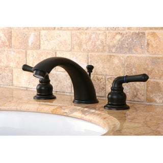 Oil Rubbed Dark Bronze Widespread Bathroom Faucet