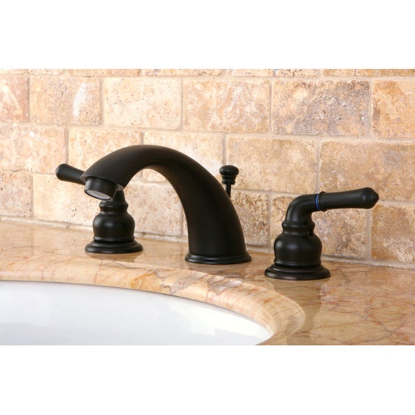 Shop Oil Rubbed Dark Bronze Widespread Bathroom Faucet - On Sale - Free Shipping Today - Overstock - 2226145
