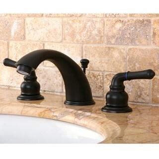 Oil Rubbed Dark Bronze Widespread Bathroom Faucet