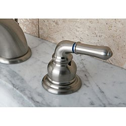 Satin Nickel Drip-Free Widespread Bathroom Faucet - Thumbnail 1