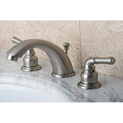 Satin Nickel Drip-Free Widespread Bathroom Faucet