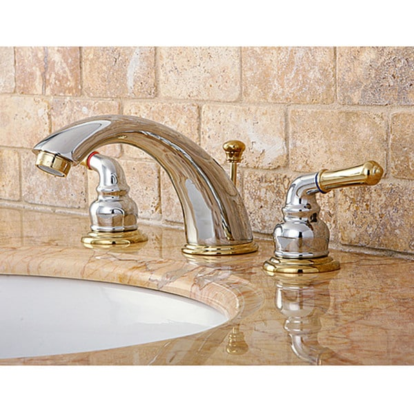 shop chrome polished brass widespread bathroom faucet free shipping today