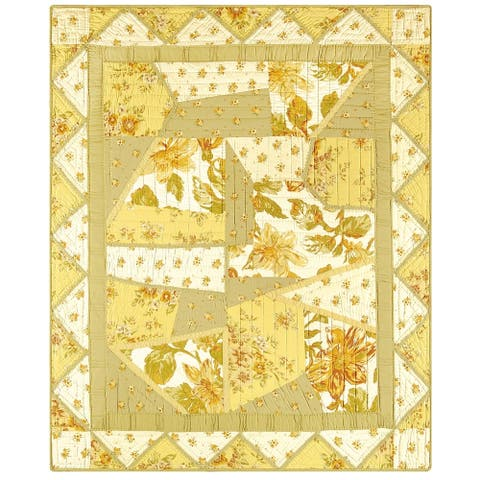 Midas Hand Piced Quilted Cotton Throw Blanket
