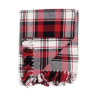 Redtail Lodge Plaid Woven Throw