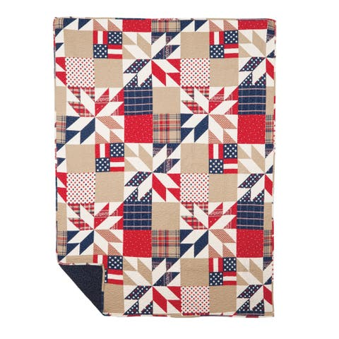 Levi Quilted Cotton Throw Blanket