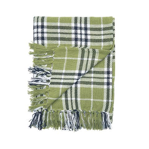 Haven Plaid Woven Throw Blanket
