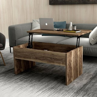 Brown Smart Lift Top Coffee Table