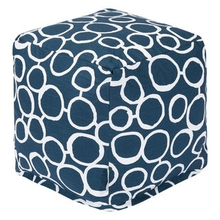 Majestic Home Goods Fusion Indoor Ottoman Pouf Cube