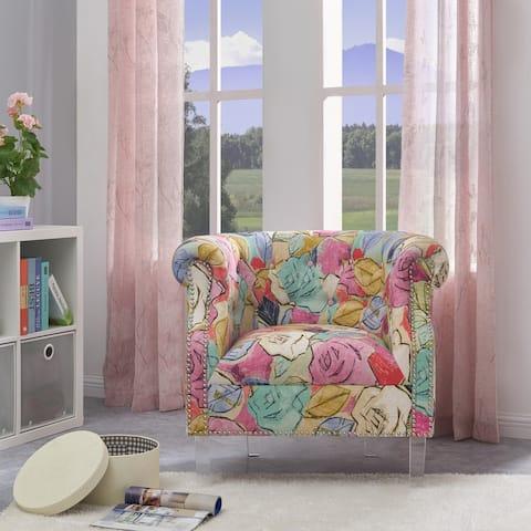 Gracewood Hollow Mungoshi Multi Fuchsia Floral Arm Chair
