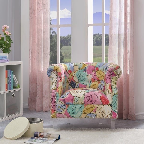 Gracewood Hollow Mungoshi Multi Fuchsia Floral Arm Chair. Opens flyout.