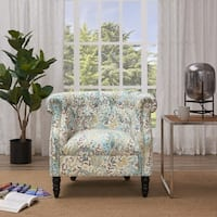 Handy Living Chesterfield Multi Blue Paisley Arm Chair