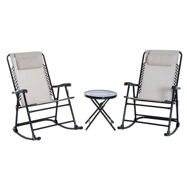 Shop Outsunny Outdoor Rocking Chair Patio Table Seating
