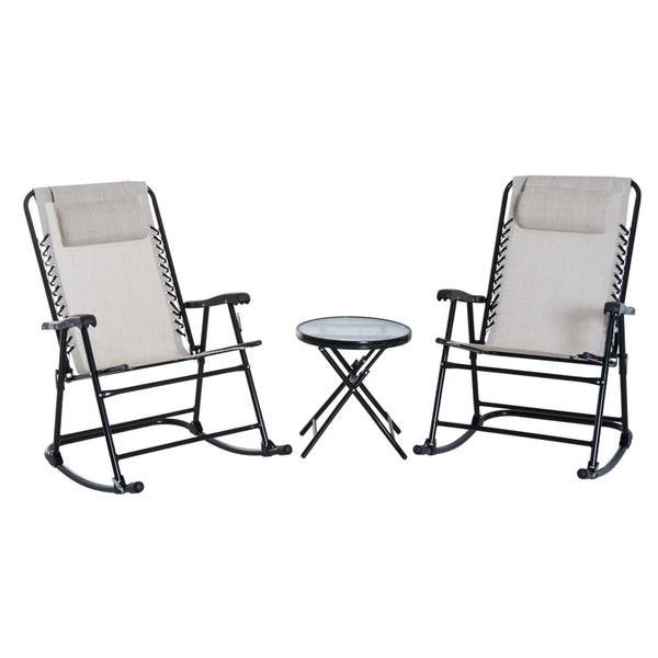 Excellent Shop Outsunny Outdoor Rocking Chair Patio Table Seating Set Unemploymentrelief Wooden Chair Designs For Living Room Unemploymentrelieforg