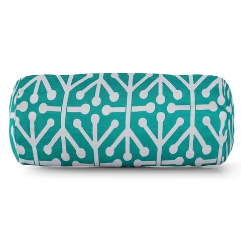 Majestic Home Goods Indoor Outdoor Aruba Round Bolster Decorative Throw Pillow