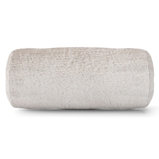 Majestic Home Goods Indoor Sherpa Round Bolster Decorative Throw Pillow